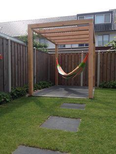 Image result for simple wood pergola hammock