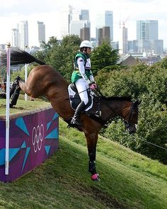 10 of the best Olympics Photos - Day 3 - Lucinda Fredericks on Flying Finish for Australia in the cross country equestrian. Photo by Pat Scala