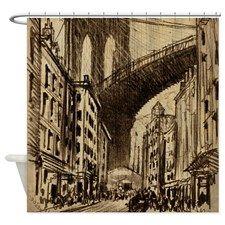 Pennell Joseph Brooklyn Bridge Shower Curtain