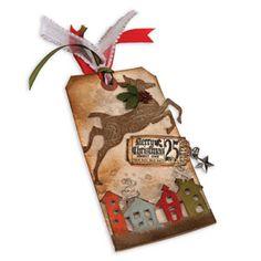 Tim Holtz Christmas Reindeer Tag - Scrapbook.com