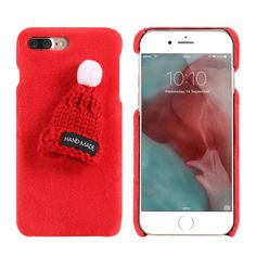 Iphone 7 Rouge, Iphone 7 Plus, Apple Iphone, Iphone 7 Design, Smartphone, Girly Gifts, Christmas Hat, Coque Iphone, Cute Pattern