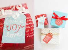 Free Printable Hand Lettered Christmas Tags by Alexa Zurcher for Capturing Joy