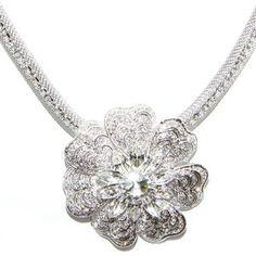 Opulent Crystal Flower Necklace