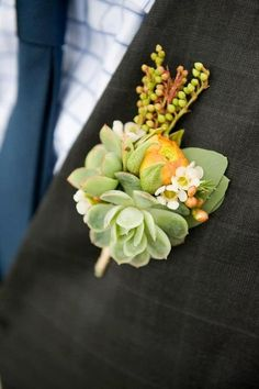 succulent boutonniere.  I'm obsessed.