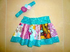 Craftin' Cami- Super quick and easy newborn skirt gift!