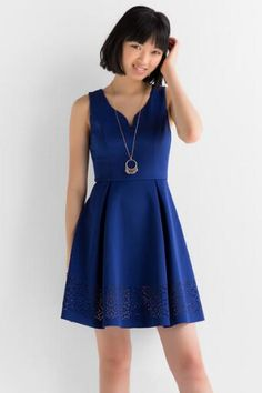 Genevieve Solid Dress