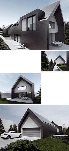 House of Tamizo Architects - Modern Architecture Architecture Durable, Architecture Old, Residential Architecture, Contemporary Architecture, Contemporary Design, Modern Exterior, Exterior Design, Garage Design, Tamizo Architects