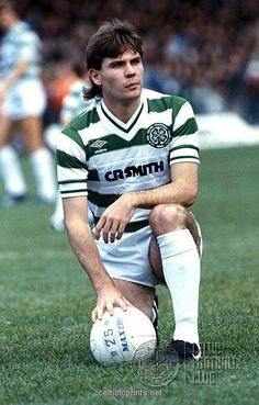 Brian McClair of Celtic in Football Stadiums, Football Shirts, Action Images, Association Football, Celtic Fc, Football Program, Professional Football, Vintage Football, Soccer Players