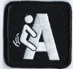 Tactical Military uniform FING A Morale black by TacticalTextile, $8.99