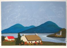 Vtg Irish Fabric Tweed Landscape Pictures Painting M O'Shaughnessy Textile Art. Very nice but too rich for my blood! Awesome Art, Cool Art, Illustration Art, Illustrations, Color Psychology, Landscape Pictures, Make Art, Textile Art, Tweed