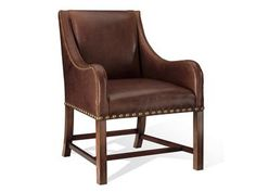 Shop for Ralph Lauren Cape Lodge Dining Chair, 083-27, and other Dining Room Chairs at Greenbaum Interiors in Paterson NJ, Morristown NJ. This elegant, Modern-influenced chair with gently curved arms and decorative French nailhead trim is supported by a mahogany stretcher base.