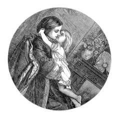 Victorian Image No. 1486 , Printable Digital Image File - elementologie, Vintage Market And Design