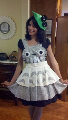 Totoro Inspired Apron Pinafore Cosplay by darlingarmy on Etsy, $85.00 Love this!