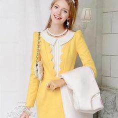 Scalloped-Trim Sheath Dress from #YesStyle <3 Dabuwawa YesStyle.com