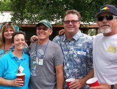 Los Al reunion 7/14  Cheryl Abate , Mike Lebrun, Eddie Kesky, Bill Baxendell