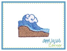 Wave Filled Mini Embroidery Design