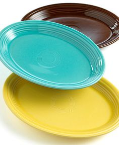 "Oval Platter. Sunflower, Turquoise, Lemongrass, Paprika  13"" or 19"" different colors"