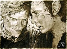 Frodo and Sam, Lord of the Rings Fan Art
