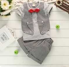 NEW DG BABY BOYS 2 PC SHORT AND TOP OUTFIT 12M 24M 18M