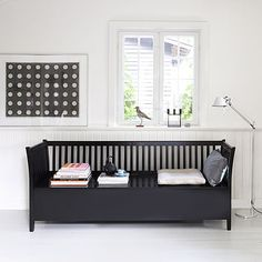 Scandanavian Bench Seat £875.00 Stunning Scandavian Bench available in gorgeous jet black or a modern white