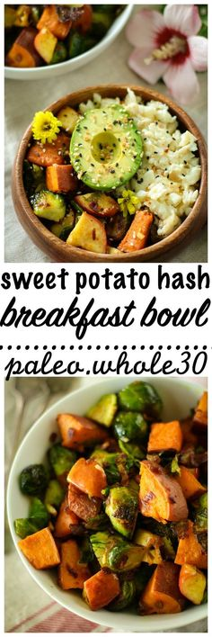 This Paleo Sweet Potato Hash Breakfast Bowl a.k.a. My Favorite Whole30 Breakfast has only 5 ingredients, but is loaded with flavor! Easy, delicious, and healthy! Whole30, gluten free, dairy free, and a great way to start the day!
