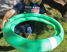 Pool Noodle Visual Motor Ring  -  Pinned by @PediaStaff – Please Visit http://ht.ly/63sNt for all our pediatric therapy pins