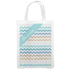 Beach Tones Chevron Market Tote ...............This design features a Beach Tones Chevron pattern. The TEXT on both sides can be customized with your own. Check out my store for more colors.