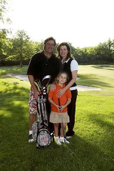 Portraits of Vince Gill, daughter Conina Grand Gill and wife Amy Grant