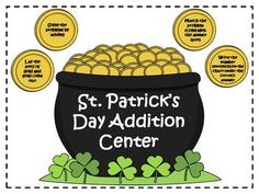 Here's a St. Patrick's day themed center activity for practicing addition facts with sums from 10-15.