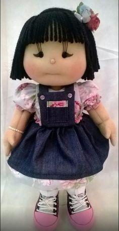 Outra boneca de pano japonesinha, modelo Ilma Brescia. Produzida no meu ateliê Era uma vez...Meimei!