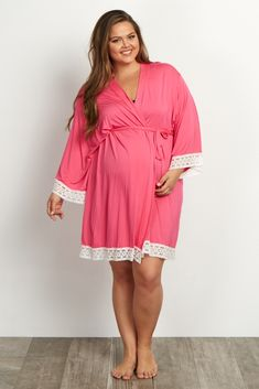 fef00e2d30 A solid plus delivery nursing maternity robe to make sure your visit during  and after