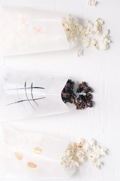 Microwave popcorn. Kettle Corn: Add in 1tbsp popcorn, 1/4tsp oil, 1/4 tsp sugar Chocolate Dipped Popcorn: Add in1 tbsp popcorn, 1/4 tsp oil, 1/4 cup melted cho...