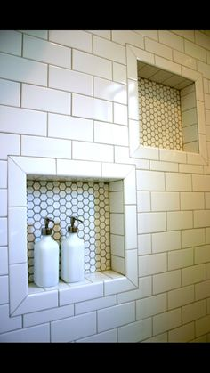 Bathroom decor for your master bathroom renovation. Learn bathroom organization, bathroom decor ideas, bathroom tile ideas, master bathroom paint colors, and much more. Bathroom Renos, Basement Bathroom, Bathroom Renovations, Bathroom Interior, Bathroom Ideas, Shower Ideas, Bathroom Organization, Subway Tile Bathrooms, Subway Tile Showers