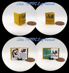 CURIOUS GEORGE Illustrated Miniature Book by LittleTHINGSinterest