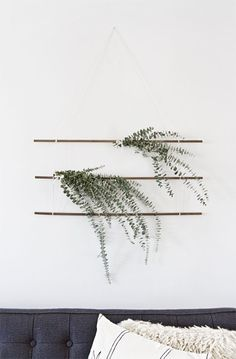 DIY eucalyptus wall