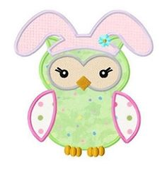 Easter Owl Applique - 3 Sizes! | What's New | Machine Embroidery Designs | SWAKembroidery.com Fun Stitch