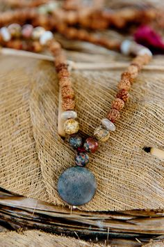 I have worn my Namaste Mala almost every day for over a year. To say I love it is an understatement. I love everything about it — the colours, intentions, the weight. And how it helps me bring consciousness into different aspects in my life. The mala features three stones: Leopard Skin (for finding solutions), Jasper (for balance and harmony), and Agate (for inspiration and creativity).