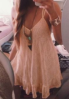 light pink lace slip dress