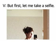 Tae tell em, you woke up like this and its obvious.. that hair tho ❤ #BTS #방탄소년단