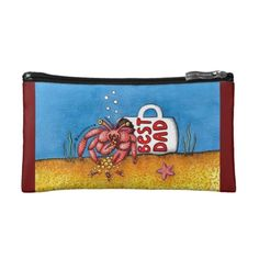 Funny Hermit Crab in Best Dad Coffee Mug Cosmetic Bag new fathers day gift ideas, did mothers day gifts, fathers day gift ideas from kids boys Fathers Day Ideas For Husband, 1st Fathers Day Gifts, Fathers Day Poems, Homemade Fathers Day Gifts, Diy Father's Day Gifts, Fathers Day Presents, Dad Day, Fathers Day Crafts, Diy Father's Day Mug