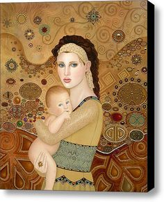Mother And Child Stretched Canvas Print / Canvas Art By B K Lusk