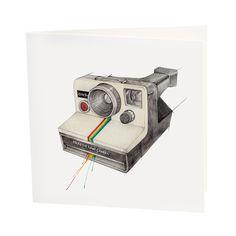 "Kort & konvolutt ""Polaroidkamera"" Illustrator, Image, Instagram, Sketch, Atelier, Sketch Drawing, Drawings, Sketches"