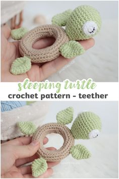 ideas for beginners to sell CROCHET PATTERN turtle teether ring, crochet turtle teether, rattle toy turtle, crochet pattern amigurumi PDF Crochet Whale, Crochet Turtle, Crochet Baby Toys, Cute Crochet, Crochet Dolls, Crochet Pattern Free, Crochet Patterns Amigurumi, Knitting Patterns, Crochet Hearts