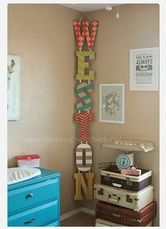 Different way to display a name in a kid's room