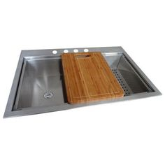 Glacier Bay Dual Mount Stainless Steel 33x22x9 4-Hole Single Bowl Kitchen Sink in Satin Finish-QK053 - The Home Depot