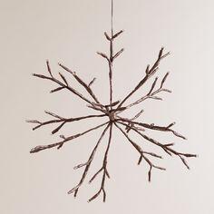 LED Snowflake Battery-Operated Hanging Light | World Market $29.99