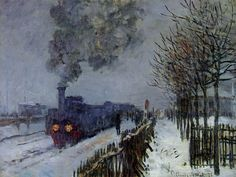Train in the Snow  Cloude Monet  1875