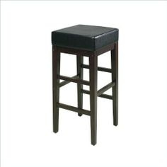 OSP Designs 30inch Square Padded Stool, Espresso and Black ES30VS3 by OSP Designs. $65.61. Easy to assemble. Attractive design compliments most any decor. Espresso finish with solid wood legs. Sturdy and stylish 30 inch square barstool with durable padded black PU vinyl top. Chair Type: Drafting and Stools. Color: Black. Material: Faux Leather. Collection: OSP Designs Square Stool. Dimensions: 14-3/4inch W x 30-1/4inch H x 14-3/4inch D. Attractive design compliments...