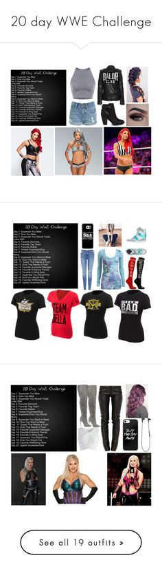 """20 day WWE Challenge"" by moon-and-back-babe123 ❤ liked on Polyvore featuring WWE, ALDO, Samsung, Frame, Bikkembergs, Wet Seal, Preen, Chicwish, B&O Play and Apex"