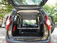 Schlafen im Dacia Lodgy (Bj. seit 2012) | Bequem im Auto übernachten mit Auto-Himmelbett.de